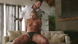 Naked Candice Dare feels amazing when fucking so hard