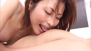 Sweet Japanese gets fucked by hard friend's penis while she moans