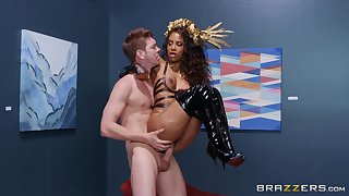 Costumed and wild Demi Sutra has unforgettable fucking skills