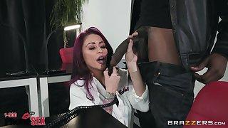 Monique Alexander rides a boyfriend's black dick like no one before