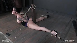 Severe bondage and pussy clamping for Tori Avano