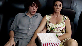 Horny milf touch shy stepson's learn of apropos cinema