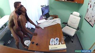 Naked ebony filmed close by secret during hard sex take her physician