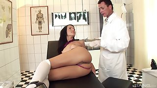 Skinny model Sasha rose enjoys procurement fucked in ass by a doctor