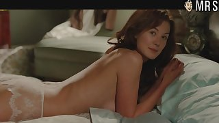 Lots of awesome divest scenes and bed scenes with sexy hottie Rosamund Pike