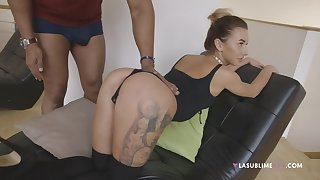 Small jugs pornstar Katrine Tequila takes a black unearth behind the scenes