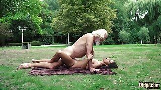 70 yr elder granddad pulverizes legitimate yr elder female wails and aroused