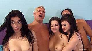 Stunning Katie Kox and Non-effervescent Sod have sex with their friends