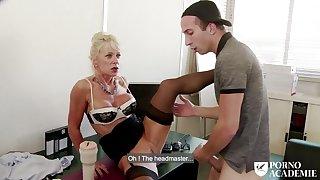 Busty mature Marina Beaulieu anal sex & DP in triad