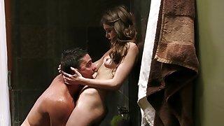 Blindfolded hottie Riley Reid gets fucked by stiff cocks - Interracial